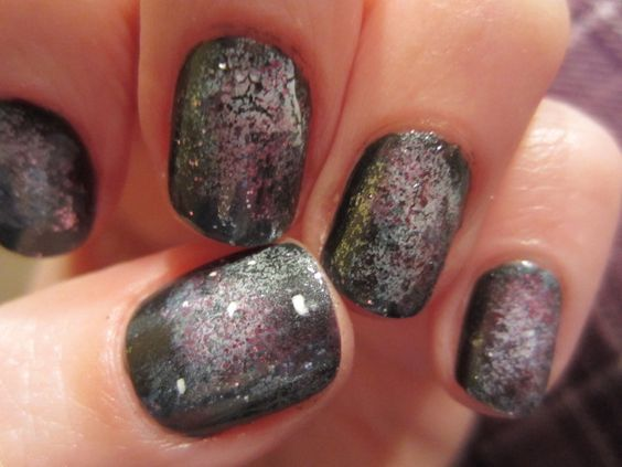 Check off my list!!  Galaxy nails...  far out!: Galaxies, Check, List Galaxy, Galaxy Nails, Imagine Wit Me