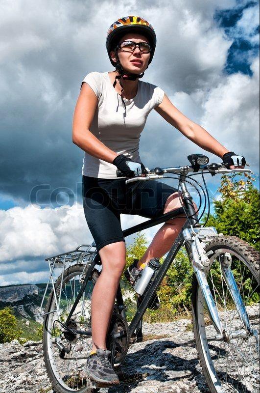 Sophie on her bike