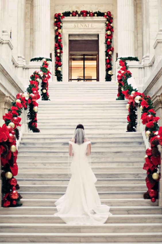 Top 14 Christmas Wedding Ideas And Wedding Invitations: