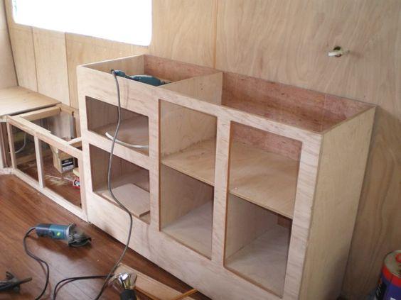 making cupboards in a caravan google search vans