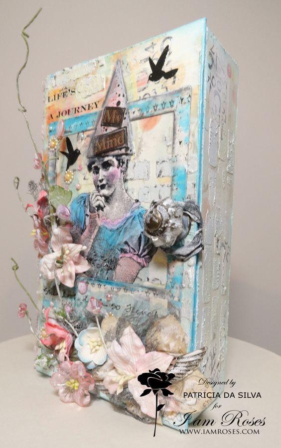 life s a journey shabby chic art box mixed media journey shabby box ...
