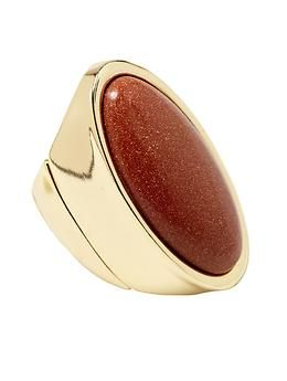 Hive & Honey Burnt Orange Shimmer Stone Ring | Piperlime