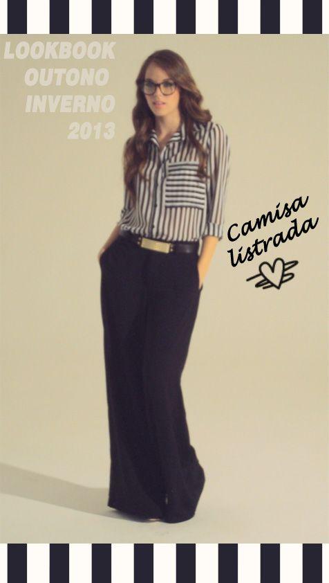 Que tal uma inspiração para o finde que está chegando?! #camisa desejo listrada @adoronamine ♥