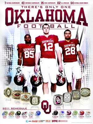 University of Oklahoma football poster and schedule.