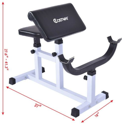 Biceps Trainer Seated Arm Barbell Curl Weight Bench Ebay Weight Benches Barbell Curl Exercise Benches