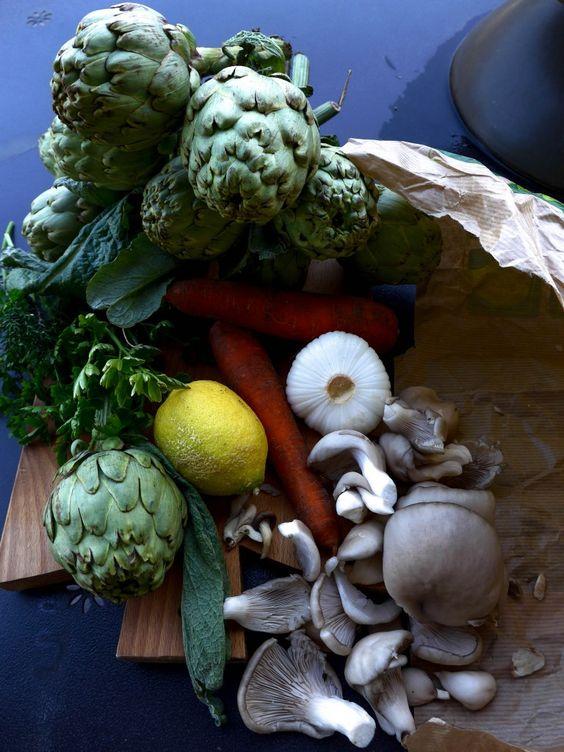 """Artichauts """"barigoule"""" du Chef Alain Ducasse - Quatre Saisons Au Jardin:"""