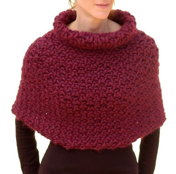 Instructions to make: Magnum Capelet 4 (knit) PDF knitting pattern ...
