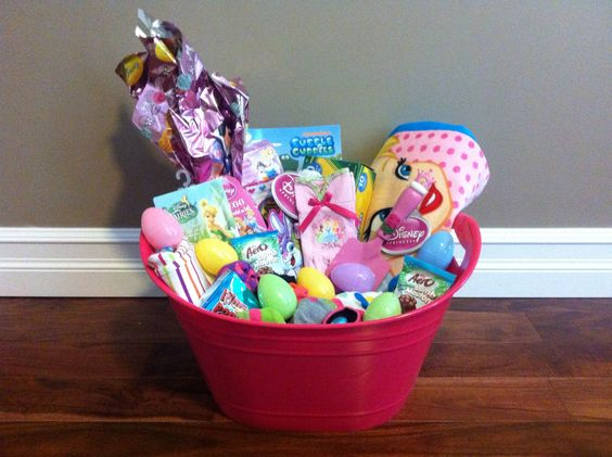 Easter Basket For My 4 Year Old Daughter Basket Includes Tinkerbell Beach T