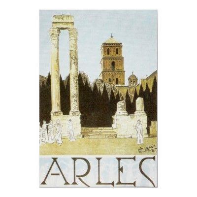 vintage travel poster - Arles