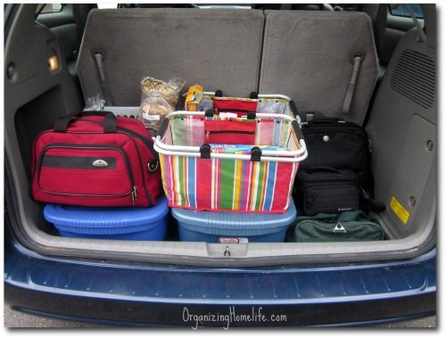 Organized Traveling with Totes | Organizing Homelife