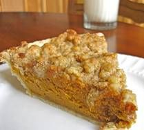 Pumpkin Pie with Maple Crumb Topping - yum!
