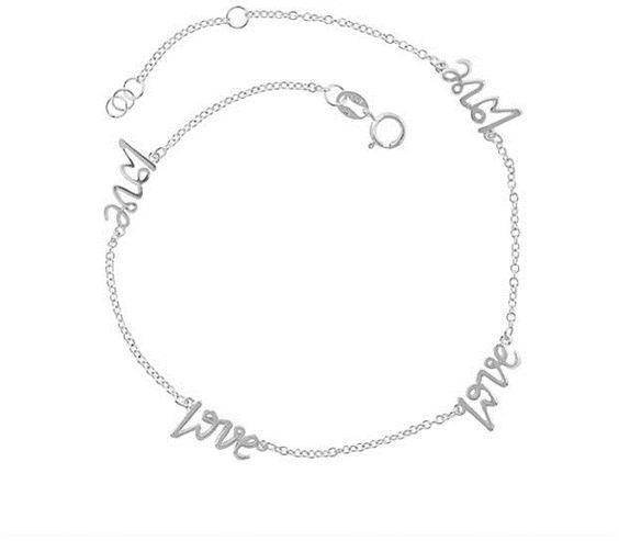 #OpenSky                  #love                     #Sterling #Silver #Love #Anklet                     Sterling Silver Love Anklet                                                   http://www.seapai.com/product.aspx?PID=915994