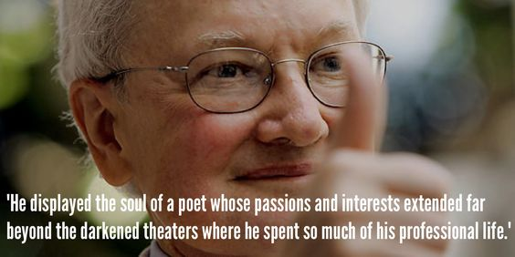 - Rick Kogan, in his obituary for Roger Ebert. Ebert died Tuesday, April 4, 2013.