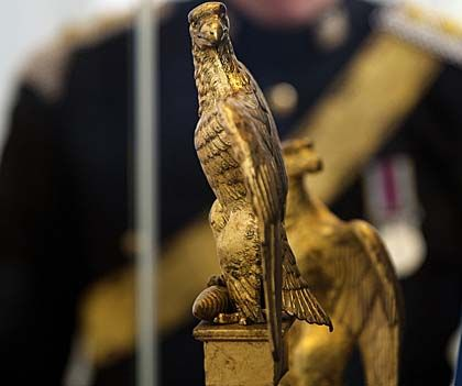holdhard: One of a a pair of Napoleonic imperial eagles captured at the Battle of Waterloo.
