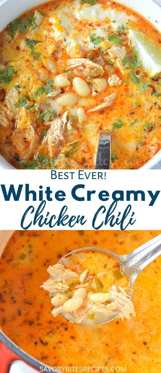 The 30 Minute Best Creamy White Bean Chicken Chili Recipe