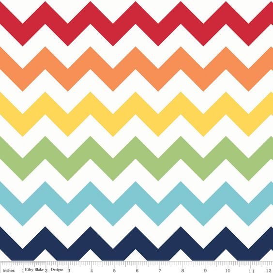 Large Chevron - Rainbow - Riley Blake 1 yard Pre-order - Sale - shipping in July/August. $7.25, via Etsy.