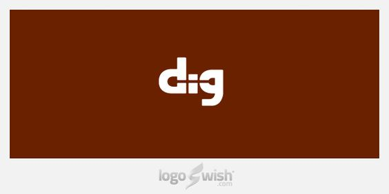 logo inspiration gallery: Dig by Arnas Goldbergas