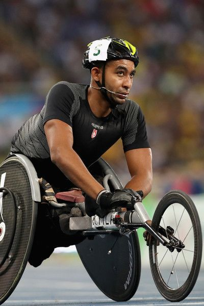 Ktila Walid of Tunisia competes in the men's 100 meter T34 heat two at Olympic Stadium during day 4 of the Rio 2016 Paralympic Games on September 10, 2016 in Rio de Janeiro, Brazil.