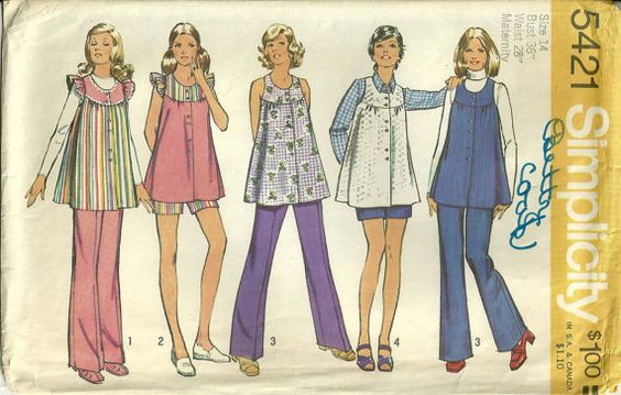 70s Vintage Simplicity 5421 Maternity by made this in 1974 ...WANT THIS PATTERN