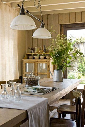 une salle manger au style campagne chic plus de photos sur ct maison http - Salle A Manger Campagne Chic
