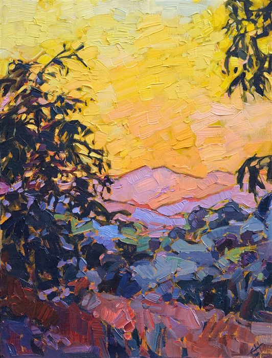 View From Adelaida Winery Paso Robles Oil Painting By Erin Hanson Contemporary Impressionism Impressionism Art Art Painting