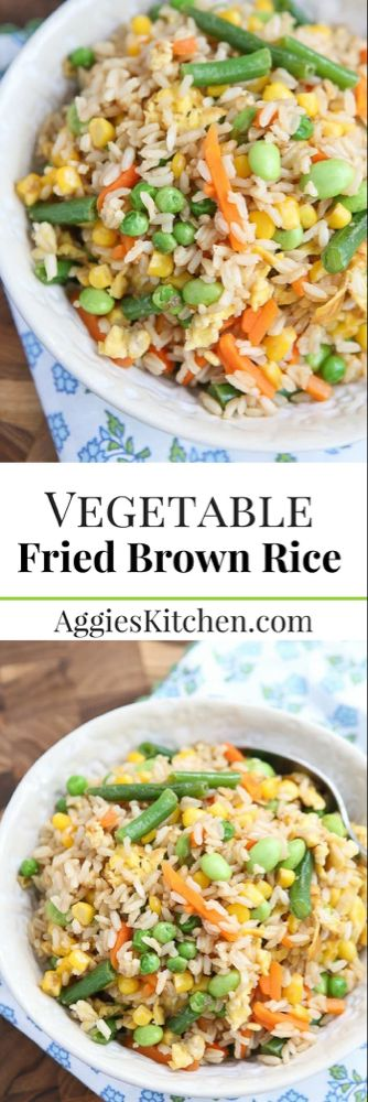5-Ingredient Vegetable Fried Brown Rice