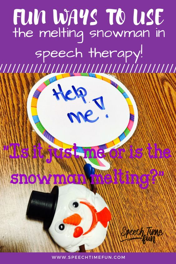 Fun Ways To Use The Melting Snowman In Speech Therapy: work on social skills, sequencing, sentence structure, and so much more!