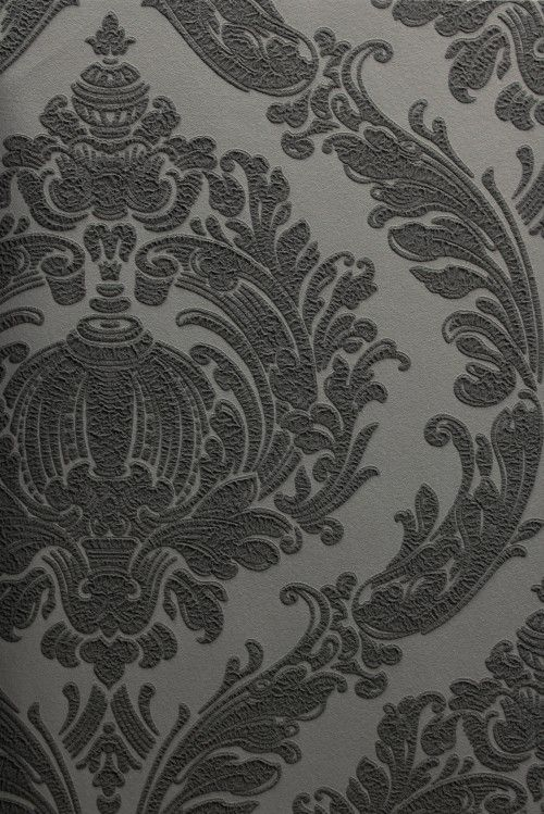 Barock Tapete Schlafzimmer : Tapete LABYRINTH Crash Design Vliestapete 03926-30 Barock grau schwarz