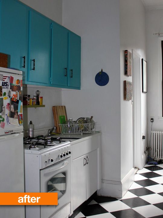 these cheap self-adhesive floor tiles look GREAT
