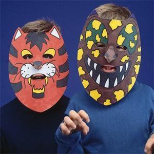 EduCraft® Animal Color-Me™ Masks Craft Kit (makes 24)
