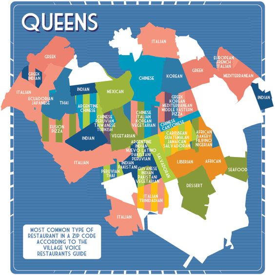 Infographic Of The Day New York Citys Unmapped Food Regions - Queens zip code