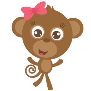 7 monkeys cartoon drawings of girls