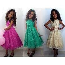 Vestido Godê Infantil -festa,formatura,casamento,aniversário