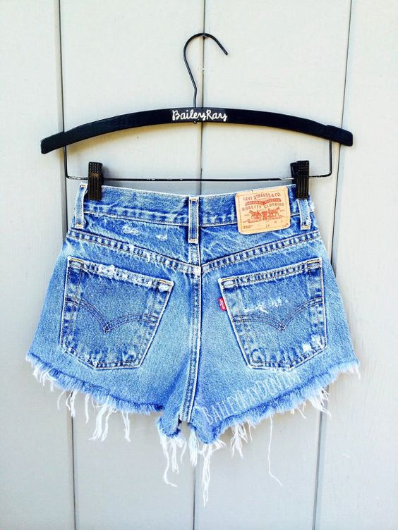 ALL SIZES Women Levi High Waisted Denim Shorts by BaileyRayDenim