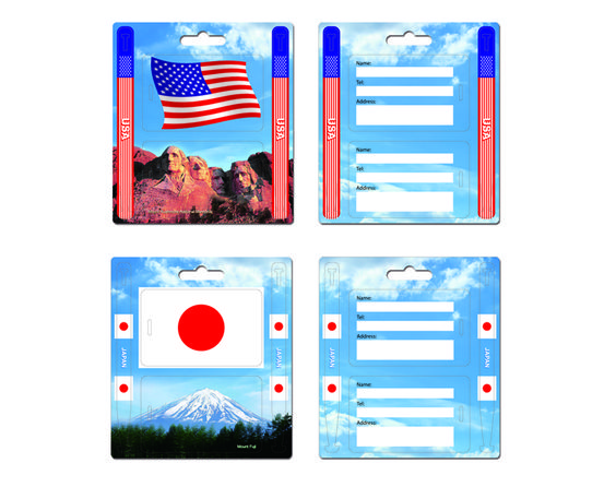 New Product alert! Double sided luggage tag set! Marketing is in the DETAILS!!