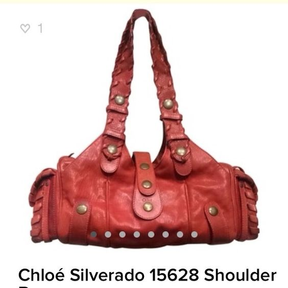 Chloe Silverado Red Leather Bag