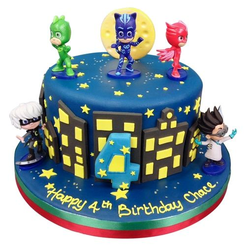 Pj Masks Birthday Cake Delivered Anywhere In The London Area Plus