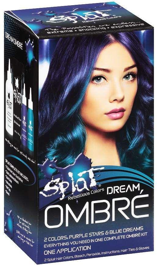 Splat Hair Color Kit Purple Stars Blue Dreams Splat Hair Color Splat Hair Dye Black Hair Dye