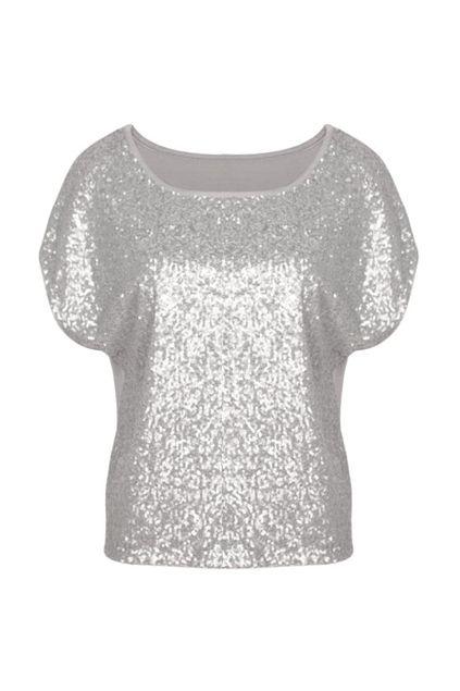 Paillette Light Grey T-shirt  。。。  $33.99
