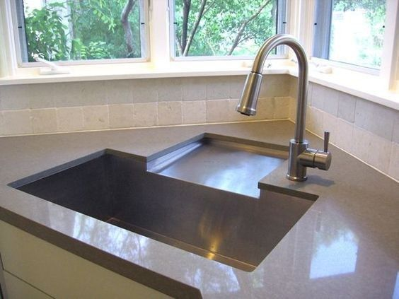 10 Modern Minimalist Kitchen Sink Ideas Godiygo Com In 2021 Minimalist Kitchen Sinks Kitchen Sink Design Corner Sink Kitchen