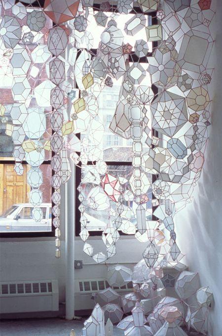 multi faceted paper gem lanterns (am i on a lantern kick?)