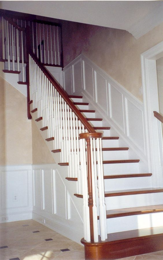 Stairways In Homes Traditional Colonial Style Paneled