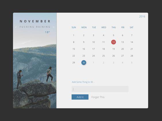 Flat Calendar - Free download