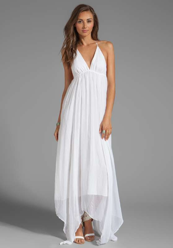 Sencillos vestidos halter largos de fiesta color blanco http//vestidoparafiesta.com/