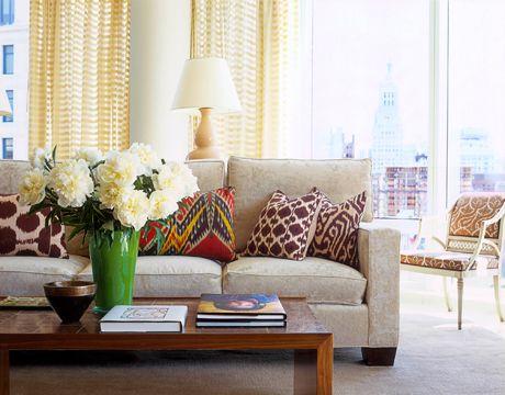 Ikat pillows House beautiful