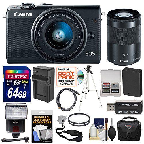 Canon Eos M100 Wi Fi Digital Ilc Camera Ef M 15 45mm 55 200mm