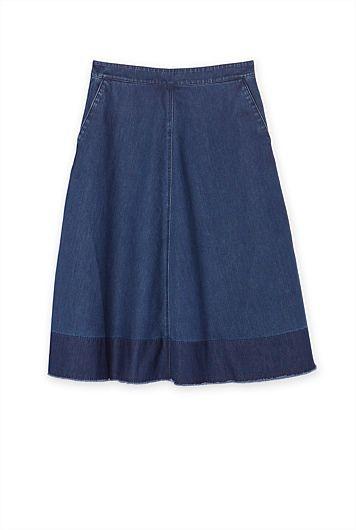 Country Road Denim Full Skirt | Denim | Pinterest | Full Skirts ...