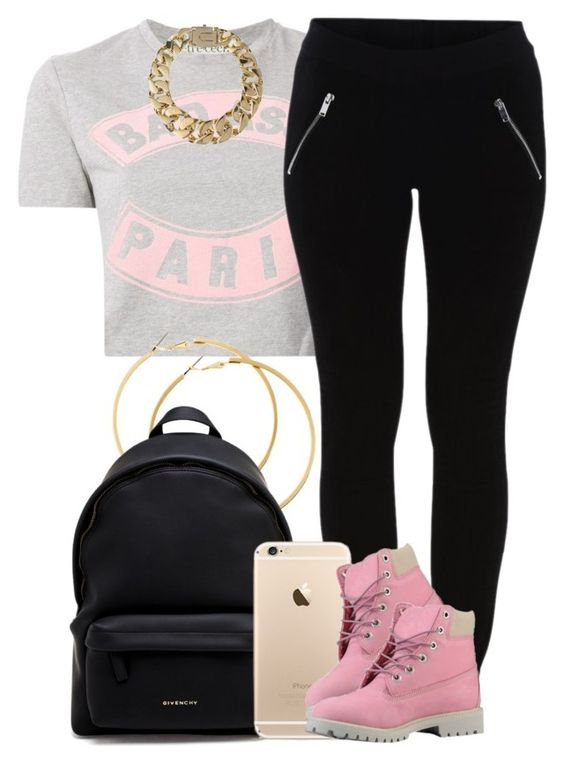 """""""Paris."""" by livelifefreelyy ❤ liked on Polyvore featuring Être Cécile, VILA, H&M, Givenchy, Timberland and AllSaints"""