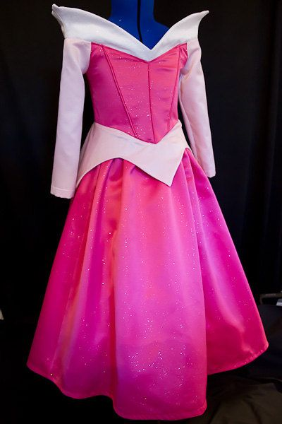 Stunning SPARKLY Satin Sleeping Beauty Aurora Costume Gown Child Size So now Aurora? Little girls and their princesses