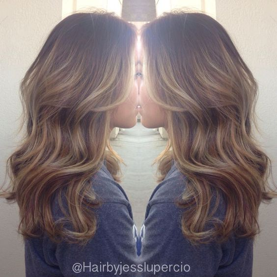 light brown hair with balayage highlights , Google Search